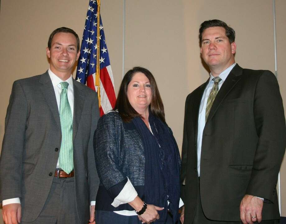 Dusty Gatlin, Judy Reed and Liberty County Attorney Wesley Hinch all spoke on the topic of estate planning during the Jan. 8 luncheon, hosted by the Greater Cleveland Chamber of Commerce. Photo: Stephanie Buckner