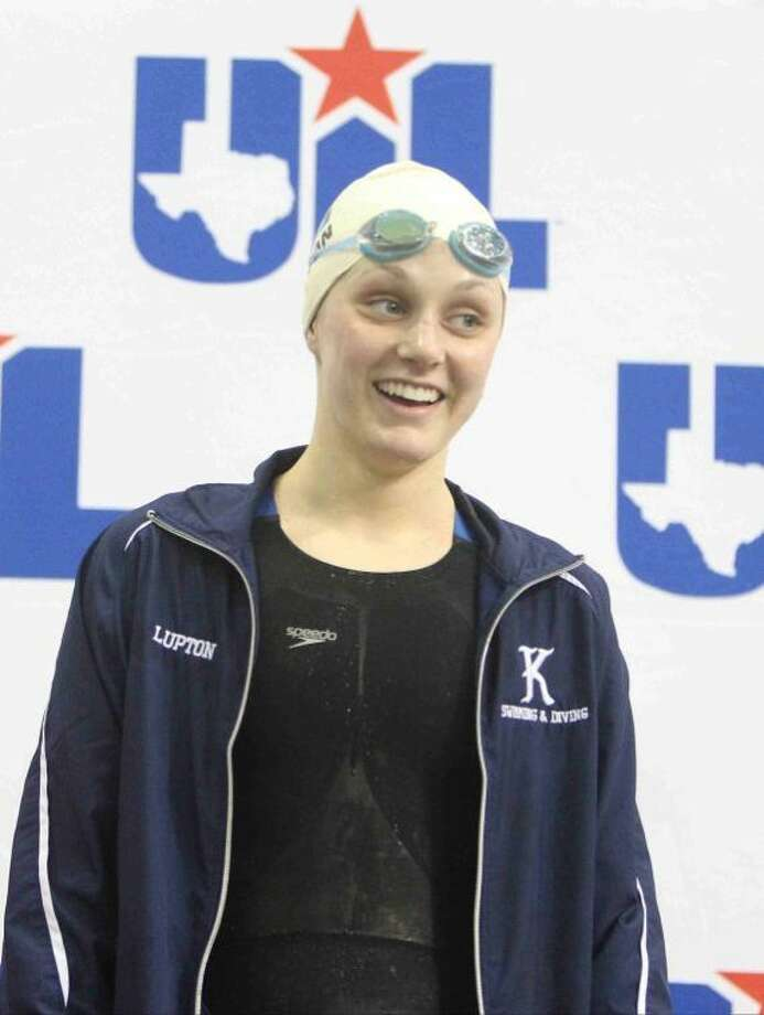 Kingwood's Lexie Lupton finished first in the Class 5A girls 50-yard freestyle finals at the UIL Swimming and Diving State Championships in Austin Saturday. Photo: Jason Fochtman