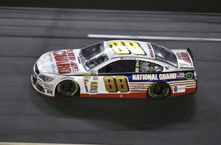 Dale Earnhardt Jr., driving the No. 88 car, won his second Daytona 500 after a lengthy rain delay on Sunday.