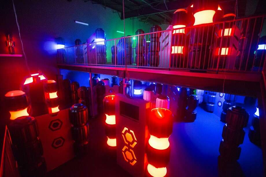 A new two-story lazer tag arena is ready for players Jan. 9, 2014, at Max Bowl North in Humble. Photo: ANDREW BUCKLEY