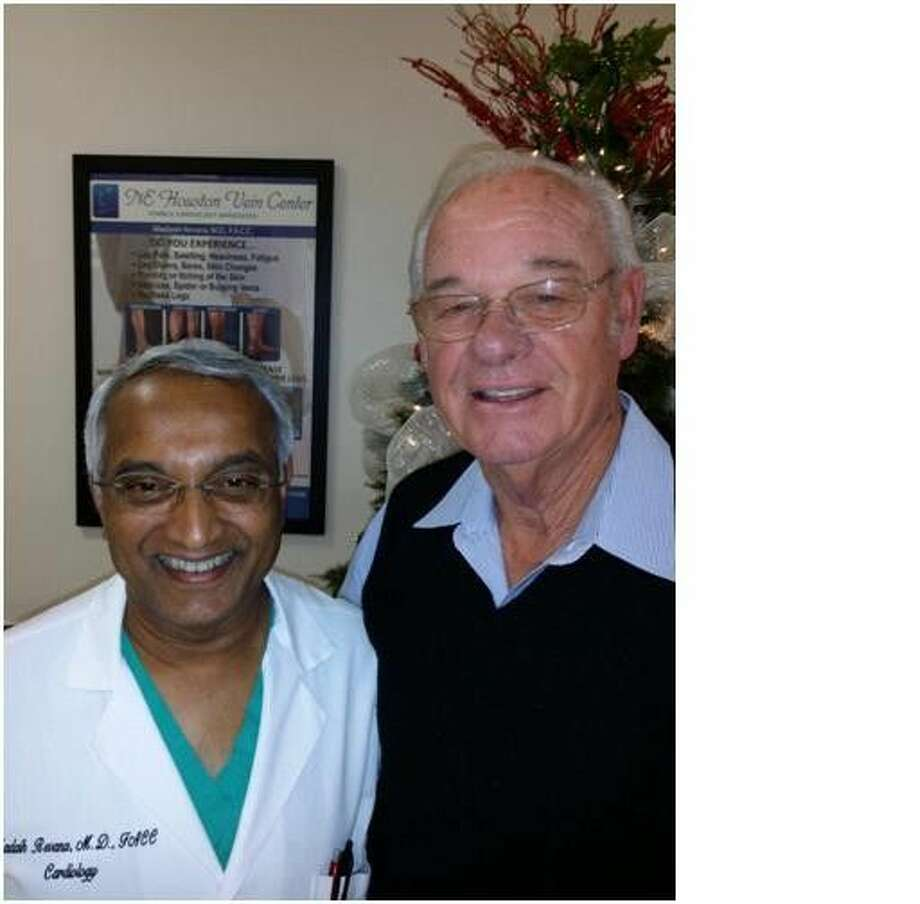 Dr. Madaiah Revana and Larry Sghiflet.