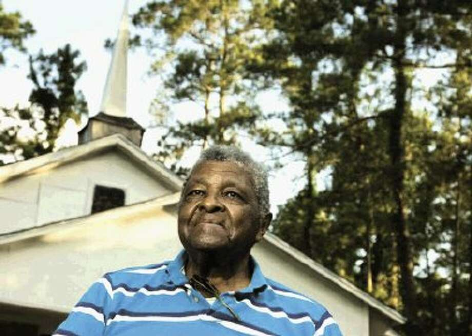 Rev. Ginns built the steeple to this church and has been the pastor for more than 36 years.