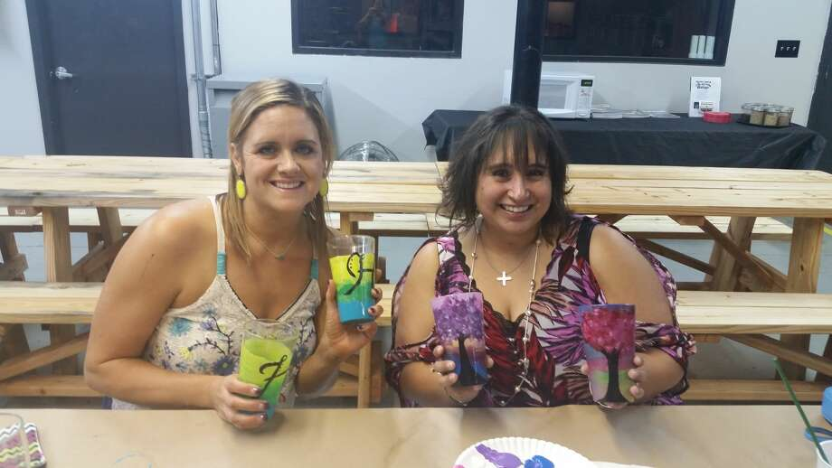 Guests at Bakfish Brewing Co. in Pearland painted pint glasses while enjoying brews on Friday, Sept. 30, 2016. Photo: Bakfish Brewing Co.