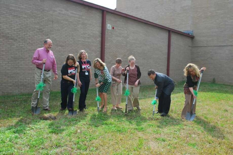 Ground was broken for Phase 1 of the new community garden in Huffman. Photo: Anthony Turner