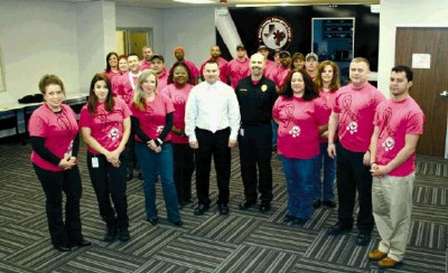 Each year, HCEC goes pink for breast cancer awareness in a big way - The HCEC website goes pink, the Facebook page goes pink, the staff name badges go pink, and everyone wears their pink HCEC shirt on Fridays during the month of October.