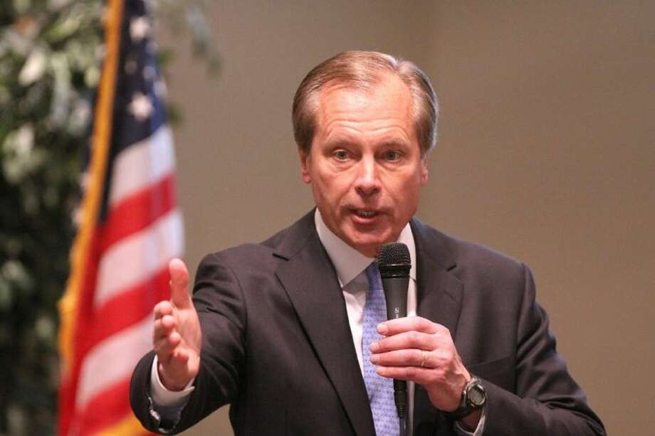 Lt. Gov. David Dewhurst answers questions during the Spirit of Freedom Republican Women's Club Lieutenant Governor forum at Sugar Creek Baptist Church Chapel in Sugar Land on Friday, Feb. 21. Photo: Alan Warren