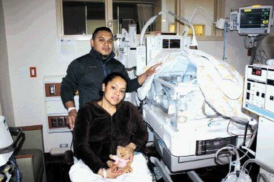 Sofia Sisneros and Samuel Cruz welcomed their daughter into the world at 12:16 a.m. on Jan. 1, 2015. Baby Mikeila Virginia Cruz Sisneros weighed 2 pounds, 8 ounces and was 11.5 inches long.