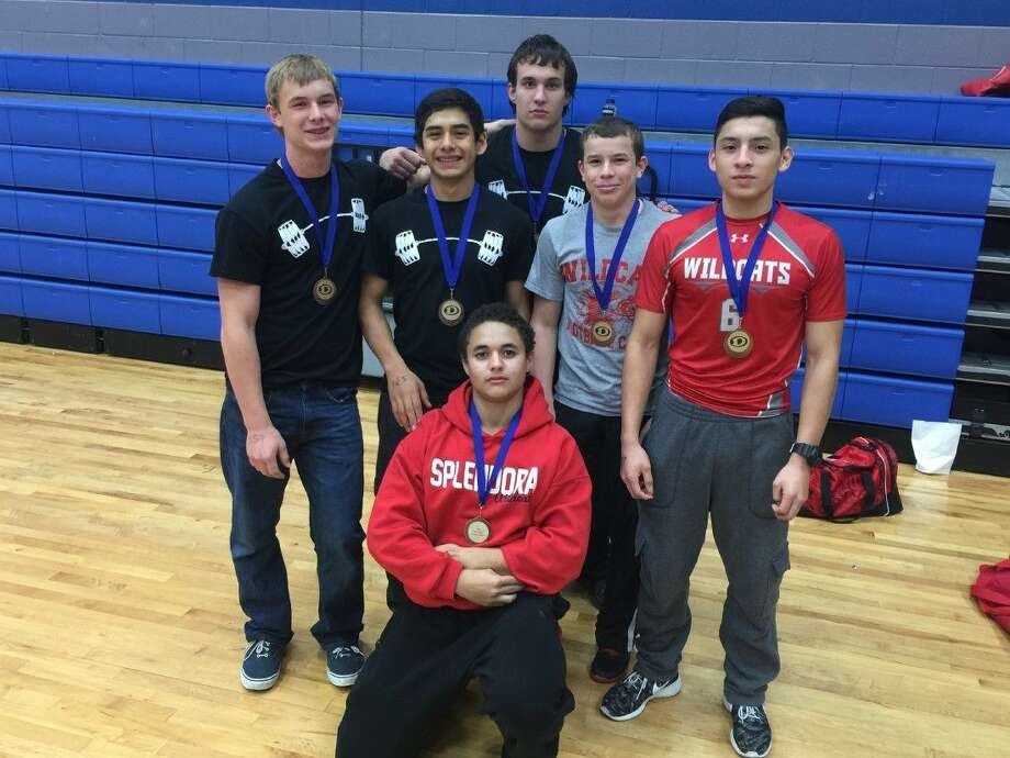 Splendora's boys powerlifting team met with some success recently in Dickinson. Shown standing from left are Lucas Erickson, Ricky Villafana, Anthony Lamb, Nathan Erickson, and Cecilio Alvarado. In front is Asa Spade. Photo: Submitted Photo