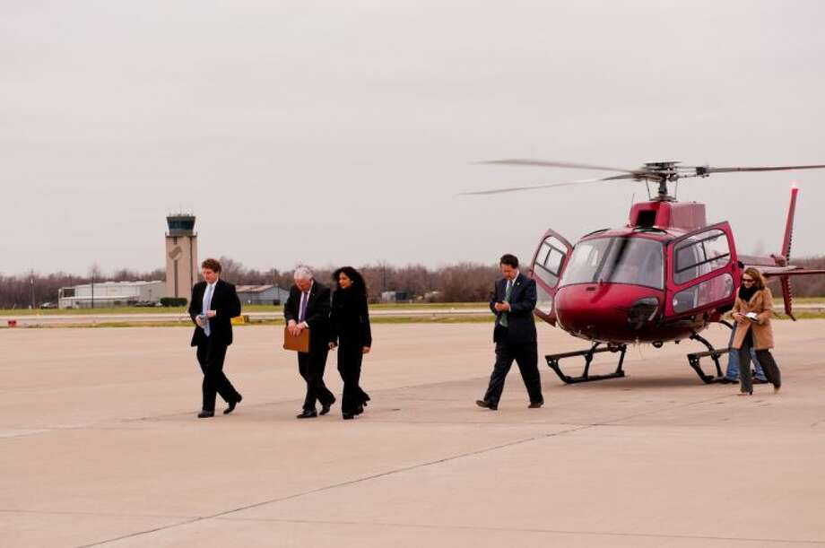 Texas Secretary of State Nandita Berry took an aerial tour of Fort Bend on her recent visit to the County to promote economic development across the state.