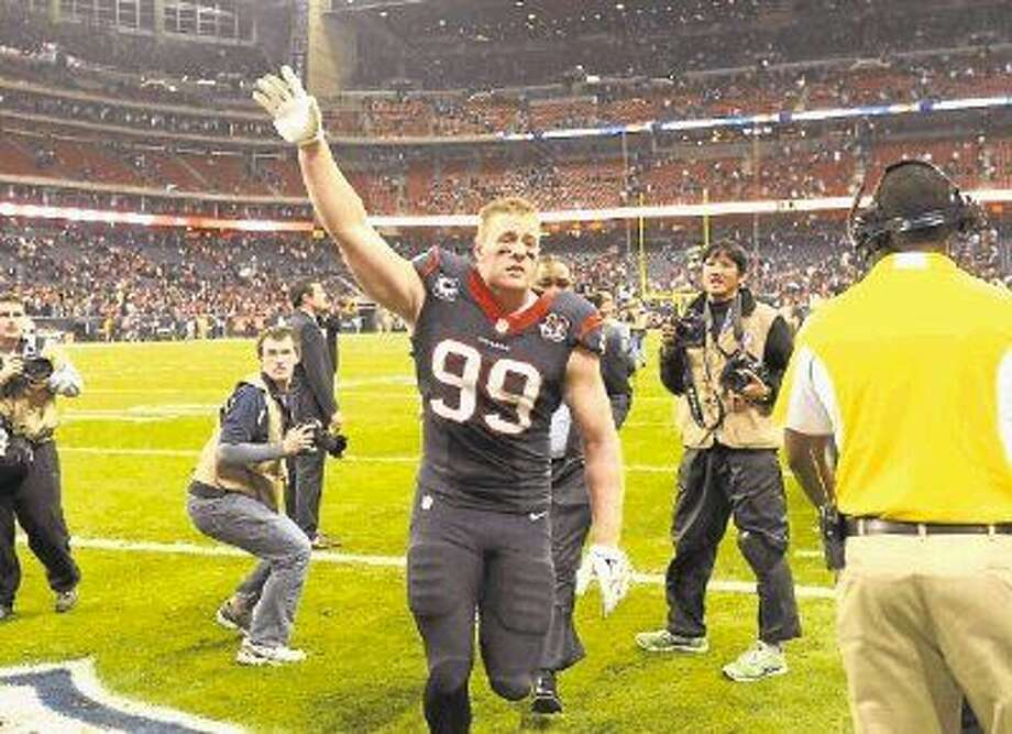 Pearland resident and NFL player J.J. Watt of the Houston Texans. Photo: Dave Einsel