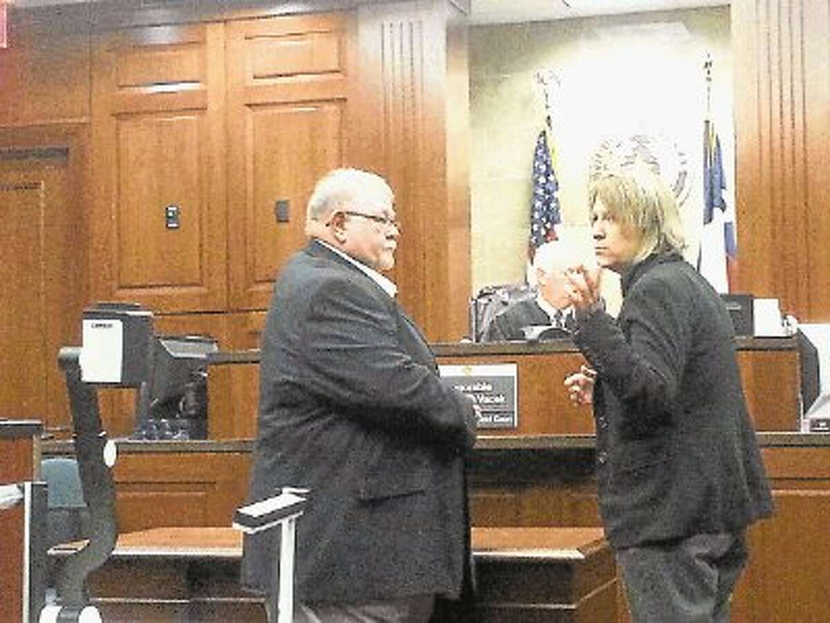 BIlly Gene McDade at his Feb. 17 appearance in Judge Clifford Vachek's 400th District Court in Fort Bend.