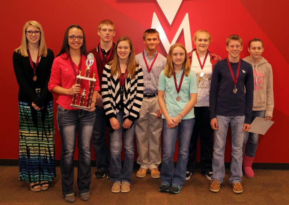 MISD District Science Fair High School winners.