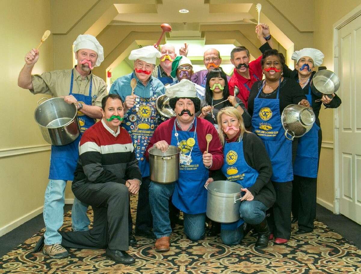 The Exchange Club of Sugar Land's 28th Annual Spaghetti Dinner will be held on February 20, 2015. Pictured, front row from l-r, Carlos Perez, Chair Kevin Barker and Shaunna Witt; Back row, Paul Barnett, Greg Oelfke, Charlie Braun, Vernon Hunt, Kevin Anderson, Phuong Tran, Doug Earle, Gladys Brumfield and Jan Poscovsky.