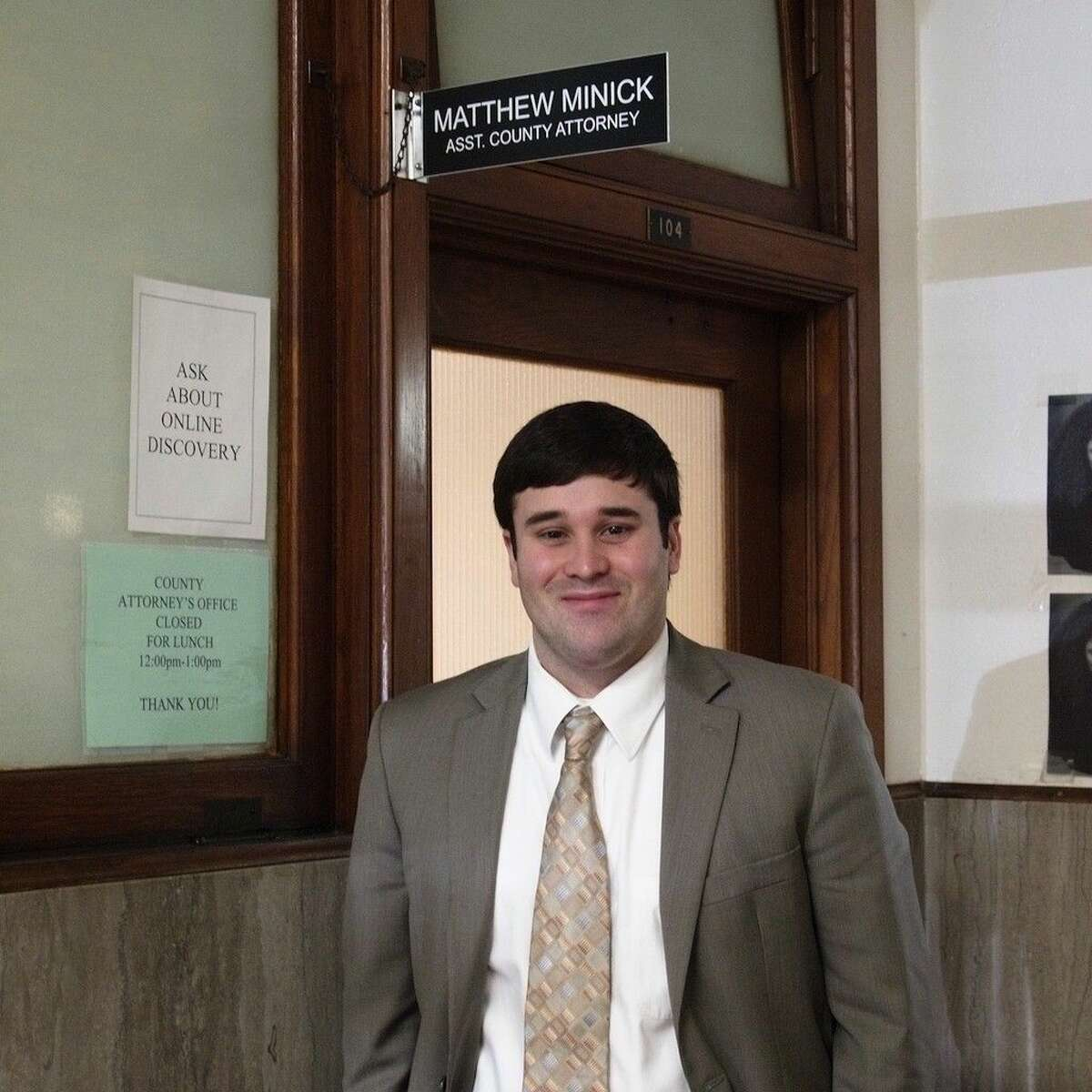 Matthew Minick from Sour Lake is Liberty County's newest Assistant County Attorney.
