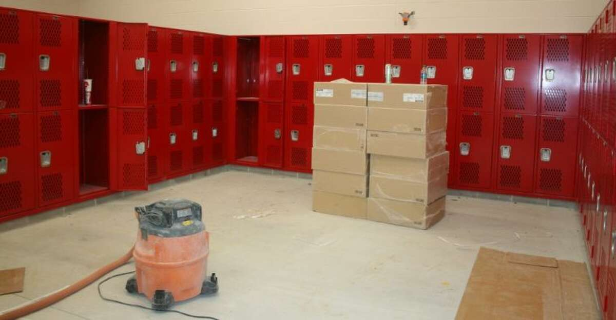 Much of the construction on the athletics additions and improvements, including the placement of the lockers in the locker rooms, has already been completed.