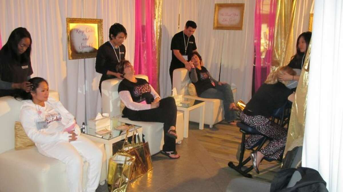 Memorial Hermann Sugar Land provided attendees of Girlfriends Giggle with manicures, pedicures, massages, Feb. 6.