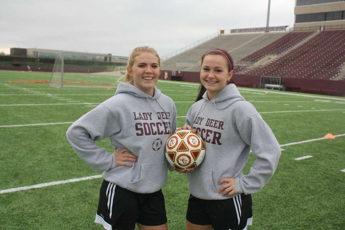 Kaitlin Babb (left) and Karleigh Alsip figure prominently in Deer Park's plans to reach new heights this season under new head coach Jesse Saavedra.