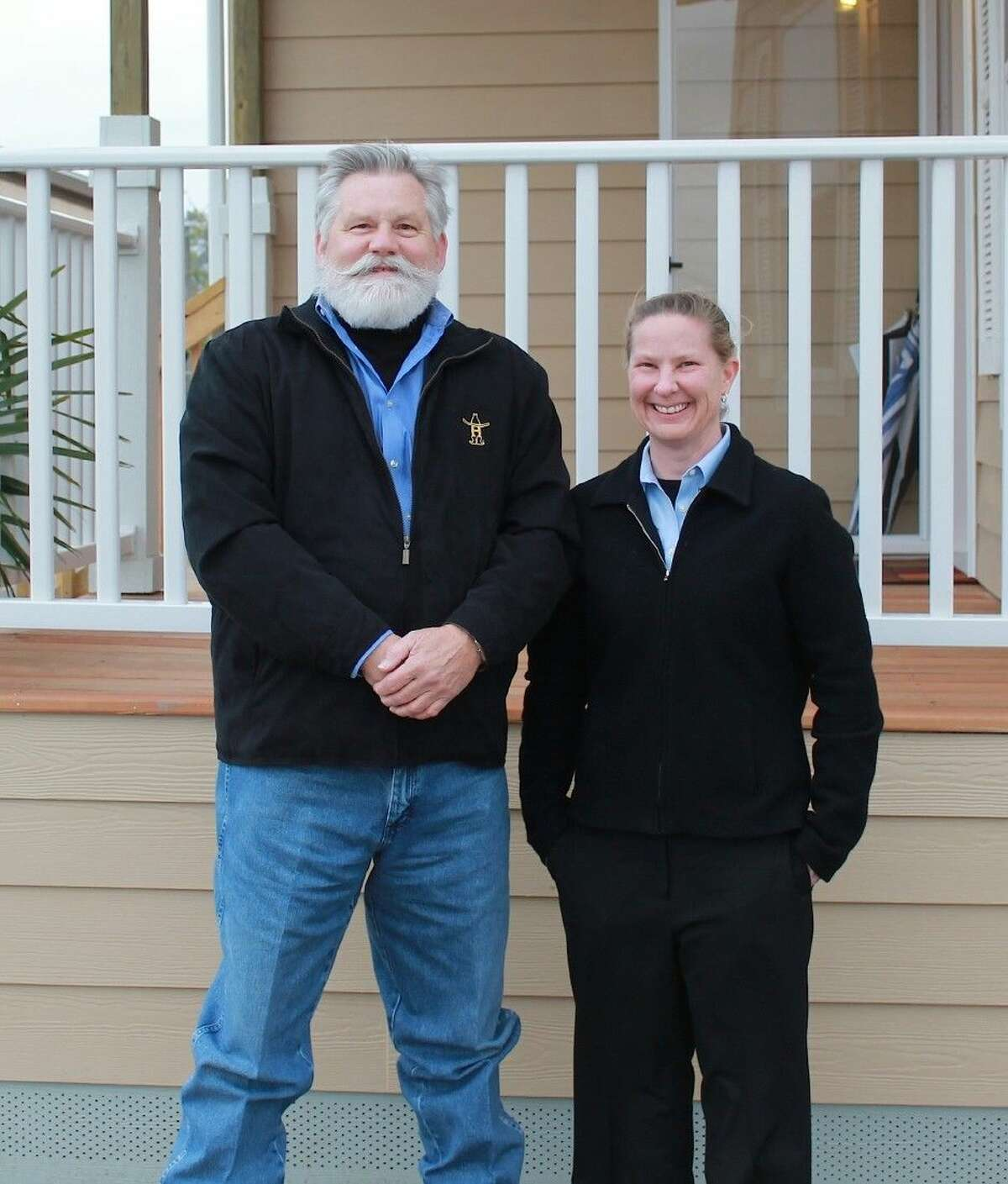 Oak Creek Homes General Manager Randy Wilson and Architend Principal Shelly Pottorf.