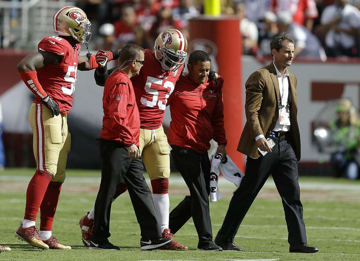 30. San Francisco 49ers (1-3): Linebacker NaVorro Bowman had eight combined tackles and a sack in San Francisco's loss to Dallas, but might be lost for the season with an apparent Achilles injury. Last week: 30