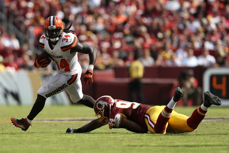 32. Cleveland Browns (0-4):Running back Isaiah Crowell rushed for 112 yards and a touchdown on just 15 carries for the winless Browns.Last week: 32 Photo: Patrick Smith/Getty Images