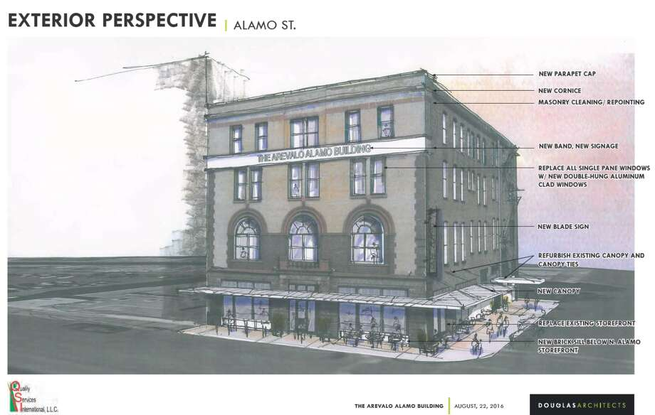 Military contractor Quality Services International plans to rehabilitate a historic building near the emerging tech district on Houston Street. Photo: Historic And Design Review Commission