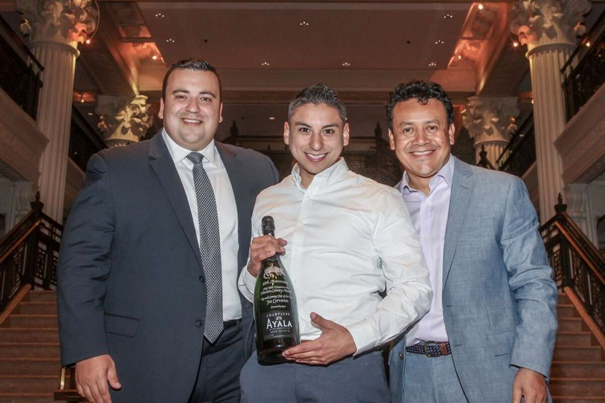 The 2016 Houston Culinary Awards presented by My Table magazine were announced Sunday, Oct. 2. Shown: Joe Cervantez, center, of Killen's Steakhouse in Pearland, won Up-And-Coming Chef of the Year.