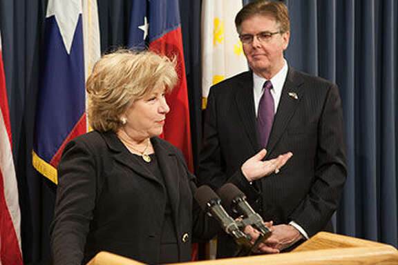 Senate Finance Chair Jane Nelson of Flower Mound and Lt. Governor Dan Patrick laid out the proposed state budget for 2016-2017 at a Tuesday press conference.