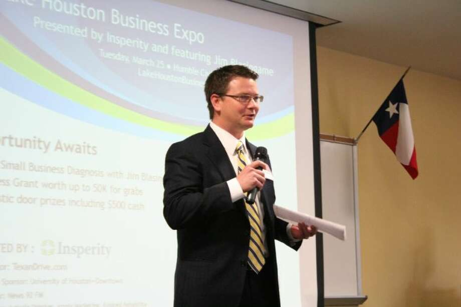 Harris County Precinct 2 Commissioner Jack Morman addressed the infamous FM 1960 traffic at the Atascocita Bizcom March 6. Photo: Nate Brown