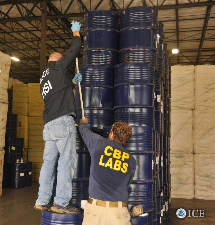 The seized illicit honey that was abandoned or forfeited totals 660 barrels weighing 203,280 kilograms (448,156 lbs.). The containers' shipping documents indicated the bulk honey originated in Latvia.
