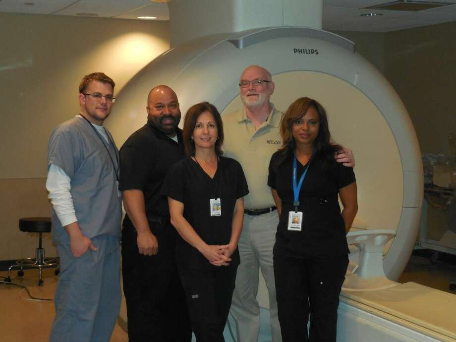 Memorial Hermann Katy Imaging Team pictured from left to right: Daniel Emswiler, Rene Cubille-Martinez, Molly Stanbery, Steve Dinwiddie, and Michelle Ray.