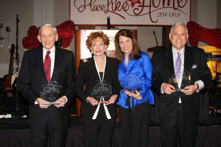 Honorees receiving Spirit of Life awards at Seven Acres Jewish Senior Care's annual gala were, from left, S. Conrad Weil Jr., Diana Brackman, Ann Friedman and Ambassador Arthur Schecter.