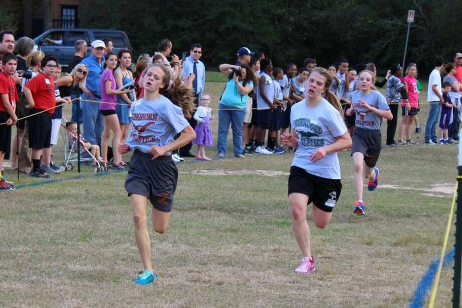 Sydney Goodman placed second at the Humble Independent School District Cross Country Meet in February.