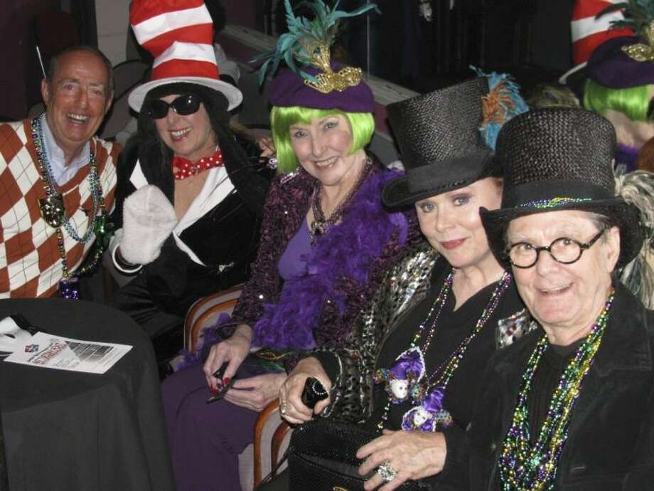 Some in the Lone Star Lyric audience came dressed in their Mardi Gras best!