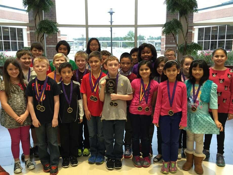The Zwink Elementary School Math Team recently brought home a fifth-place national trophy. Photo: Submitted Photo