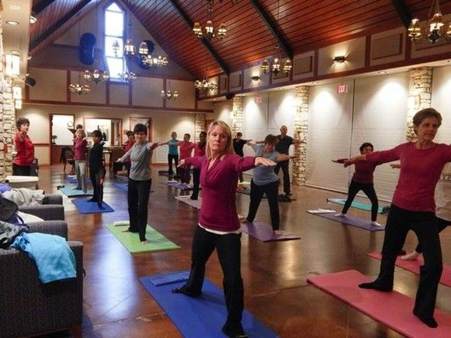 Instructor Mary Warren teaches yoga at Big Stone Lodge. Photo: Submitted Photo