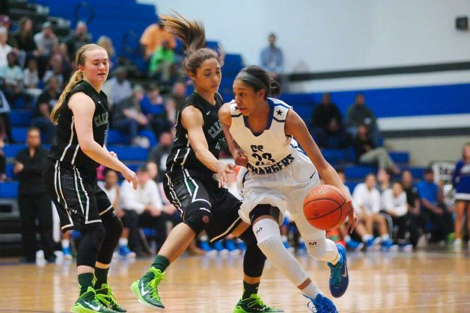 Clear Springs' Sierra Cheatham (33) is evolving into a complete player for the Lady Chargers, who entered Tuesday's district action with a 25-3 record. Photo: KIRK SIDES