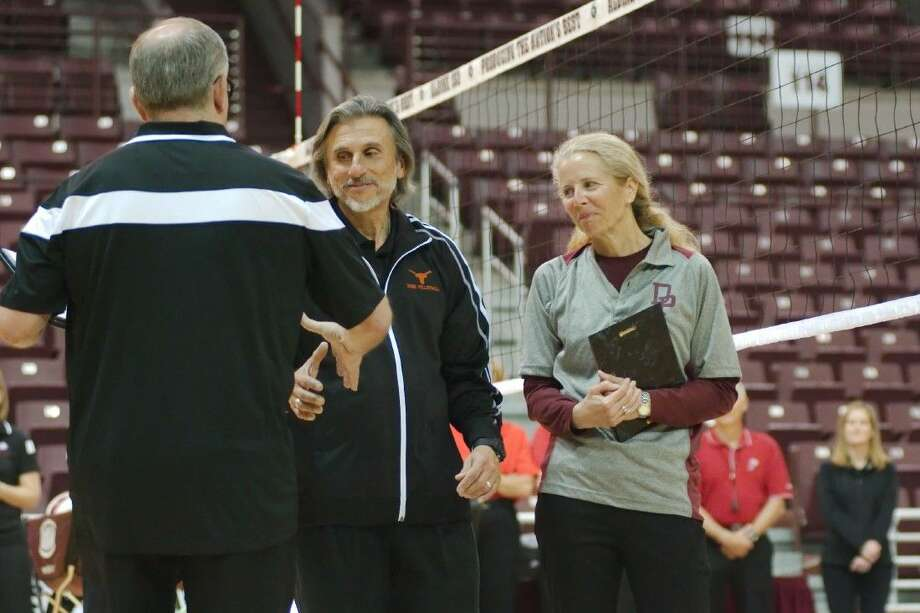 The Sabatells, Joe and Gay Sabatell, the most unique coaching team in the state, were recognized for their dedication and devotion to the sport of volleyball during the recent Greater Houston Volleyball Coaches Association All-Star Game. With both calling it quits, Joe Sabatell has been Dobie High School's longtime head coach and his wife has been Deer Park's head coach for a very long time. No doubt their favorite stories they'll be telling in retirement will be the many matches when Dobie and Deer Park met on the court. During their decades of coaching, they have dozens of state playoff appearances and postseason victories for their respective programs.