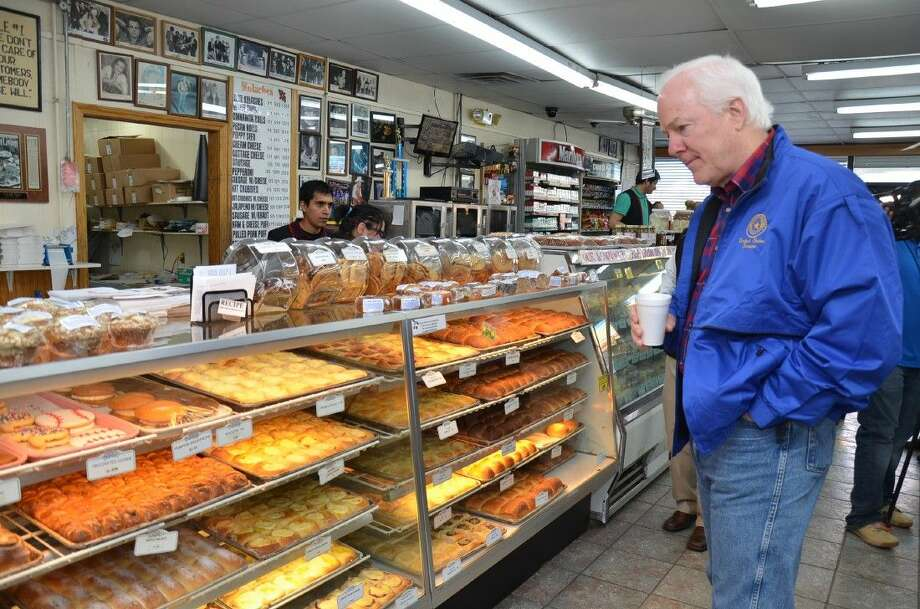 Senator John Cornyn drops in at the Czech Stop in West, Texas to purchase some kolaches. The Senator was in town following the fertilizer plant explosion.