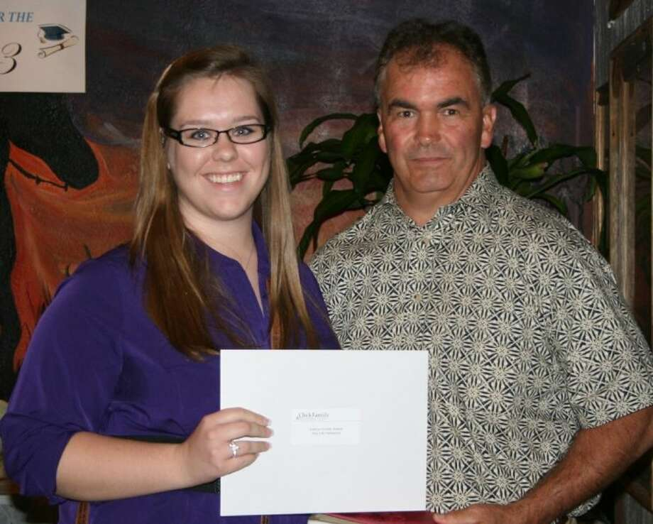 Catherine Walker was one of the 20 recipients of the scholarships that were given by The Click Foundation at their annual scholarship banquet in May 2013. The event is hosted by Click Foundation founder Donny Click. Photo: STEPHANIE BUCKNER