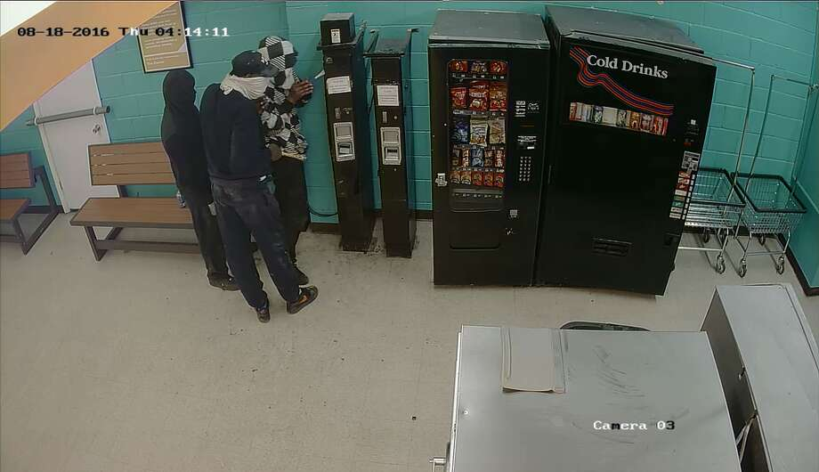Police are searching for three suspects who burglarized a laundromat about 3:45 a.m. Aug. 18, 2016, in the 3000 block of Truxillo in south Houston. (Crime Stoppers)