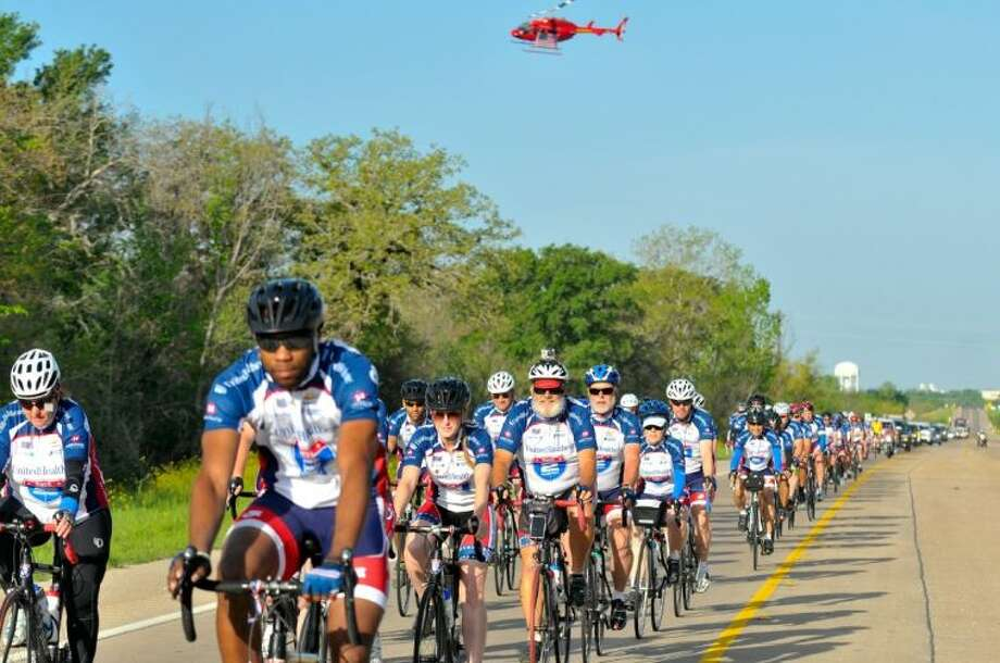 "More than 200 injured veterans and active duty military cyclists will pass through Magnolia as part of the ""UnitedHealthcare Ride 2 Recovery Texas Challenge"" on the morning of March 23. Magnolia is on the first day of the Ride's week long route from Houston to Fort Worth. Photo: Submitted"