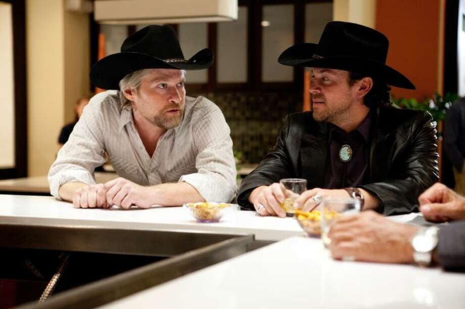 Former Kingwood resident Todd Lowe, left, is a co-star in the movie 50 to 1, an underdog story about a group from New Mexico and their horse, Mine That Bird who against 50-1 odds rallied from dead last to win the 2009 Kentucky Derby in one of the biggest upsets in Derby history.
