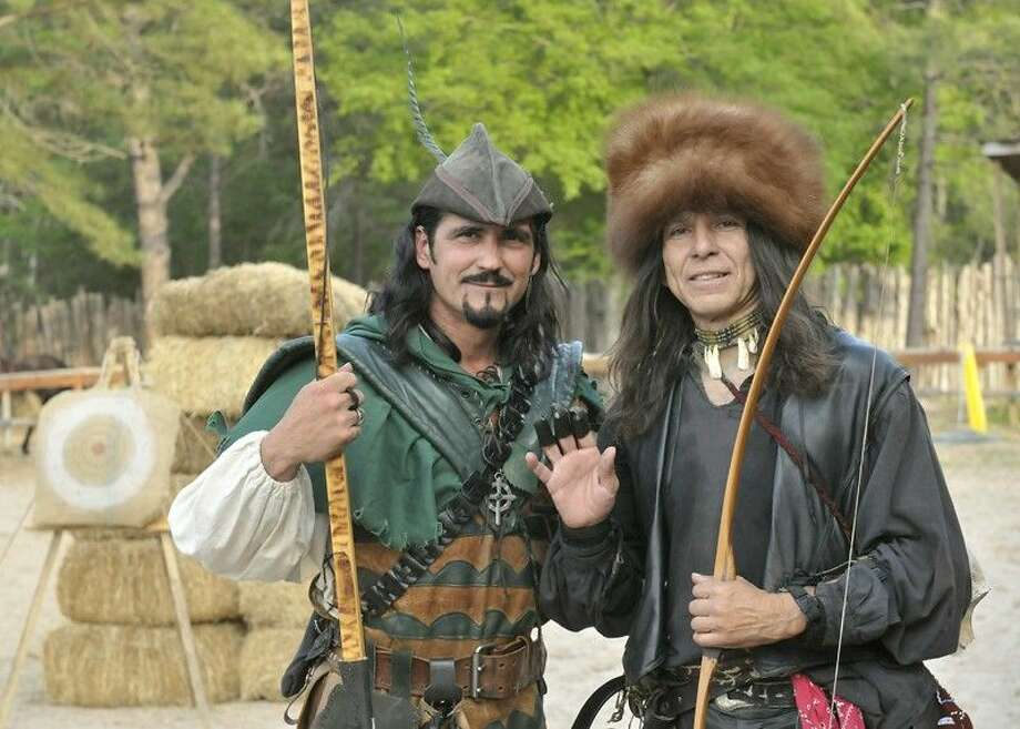Humble resident Leslie Snyder, left, will play the role of Robin Hood for the sixth year at the 2015 Sherwood Forest Faire.