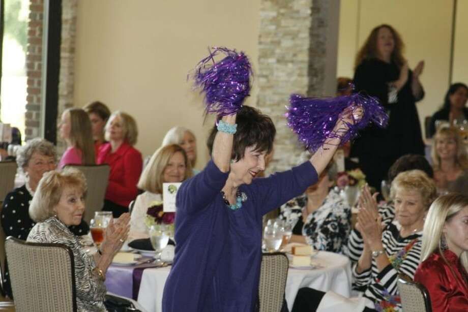 Halene Crossman served as a major cheerleader to garner donations for FamilyTime's new office building at last year's luncheon.