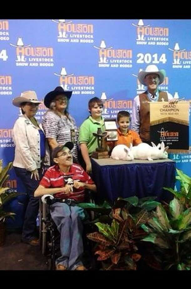 Barrett Primary Student Austin Ellers' meat pen rabbits won Grand Champion at the Houston Livestock Show and Rodeo. Photo: Submitted Photo