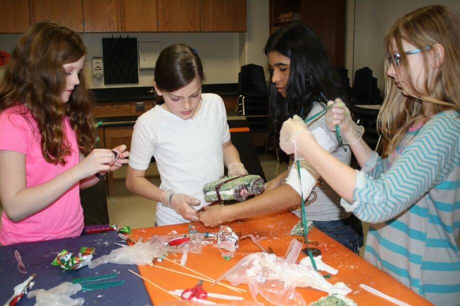 Students work together to create their edible car. Photo: KISD