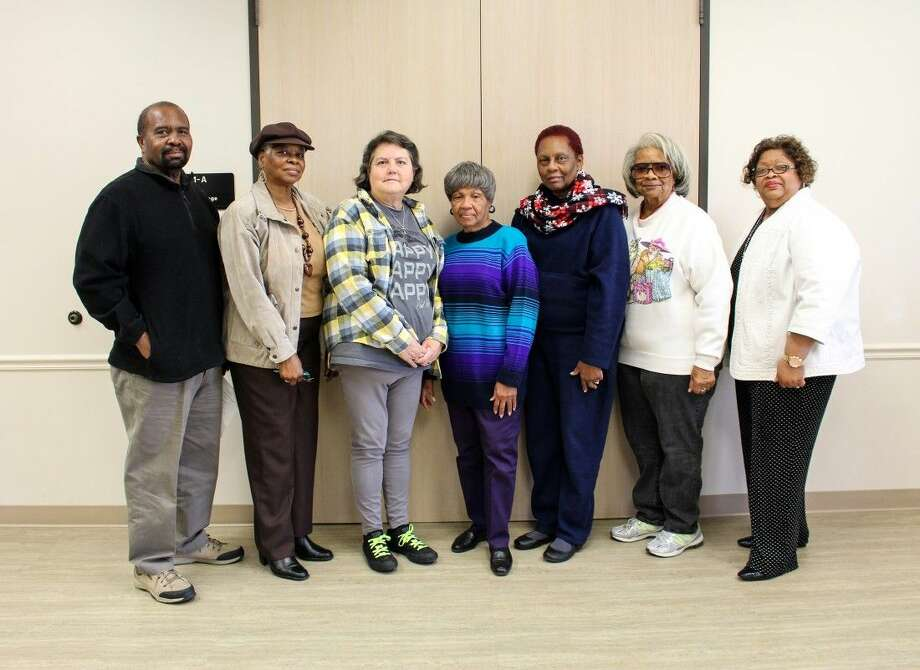 Mangum-Howell Black History Committee members include Leon Flakeas, Herma Lathan, Jan Gloria, Barbara Taylor, Chair Helen Lewis, Clara Whitaker, and Co-Chair Linda Watkins. Photo: Submitted