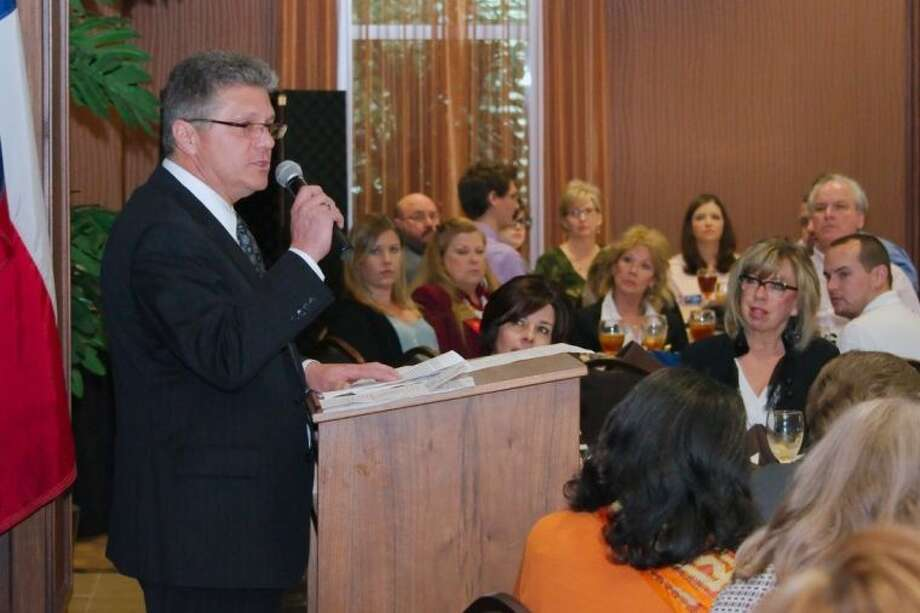 Mayor Kevin Holland displays passion as he discusses the future of Friendswood. Photo: KIRK SIDES