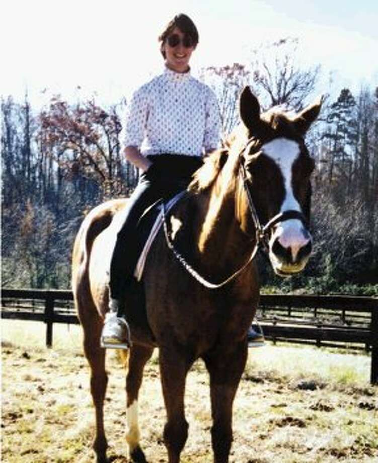 After spending time with her mother, Ann Campanella turned to her horse Crimson for comfort.