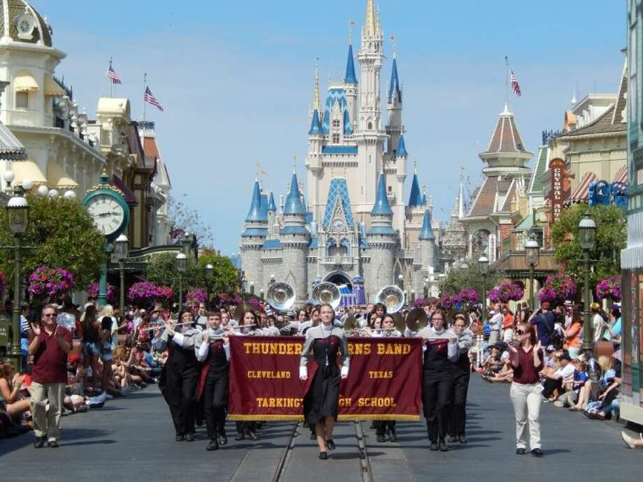 Tarkington High School band members performed at Walt Disney World in Orlando, Fla., on March 10. Photo: Submitted Photo